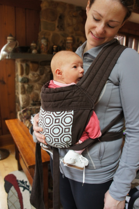 This mama baby pair was really happy in our first carrier, an old soft broken in babyhawk mei-tai