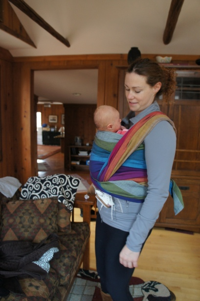 We also tried wrapping and found success both ways!  I am happy to see that babywearing has many paths to success for these mamas and babies starting out with hip dysplasia!