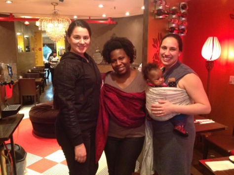 I topped off my visit by visit by seeing some of the babywearing goddesses of NYC before  I hopped on my plane back home. It was a great overnight whirlwind!