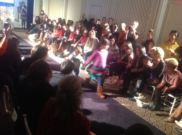 They had a fabulous fashion show to introduce the fall/winter line - inspired by China!