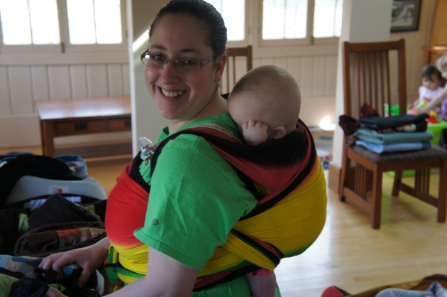 One Love Wrapsody and One Proud mama of twins in her first Double Hammock Carry!