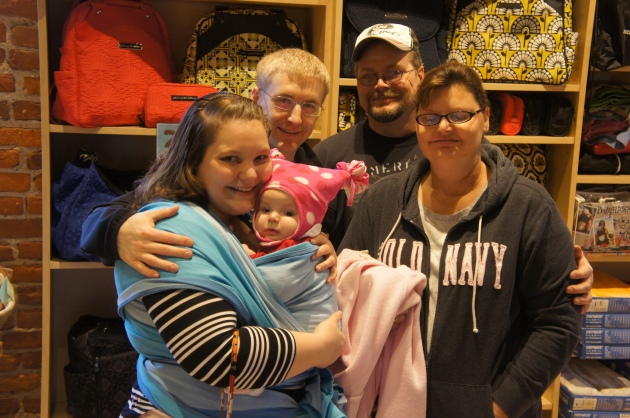 Wrapping has really fit into life nicely for this wonderful family.