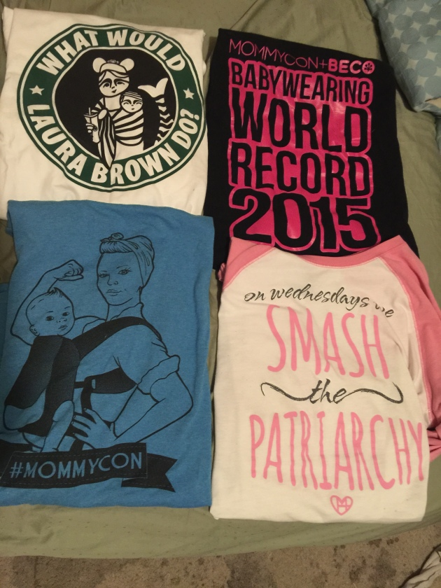 As a side note, I am collecting an awesome amout of Mommycon Gear.  There are so many awesome designs!!!!!